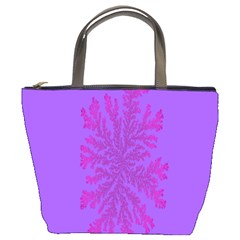Dendron Diffusion Aggregation Flower Floral Leaf Red Purple Bucket Bags by Mariart