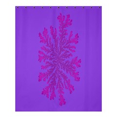 Dendron Diffusion Aggregation Flower Floral Leaf Red Purple Shower Curtain 60  X 72  (medium)  by Mariart