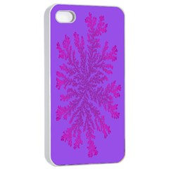Dendron Diffusion Aggregation Flower Floral Leaf Red Purple Apple Iphone 4/4s Seamless Case (white) by Mariart