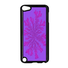 Dendron Diffusion Aggregation Flower Floral Leaf Red Purple Apple Ipod Touch 5 Case (black) by Mariart