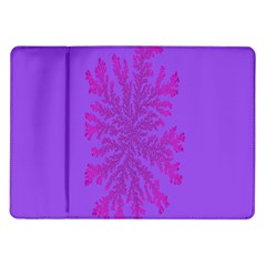 Dendron Diffusion Aggregation Flower Floral Leaf Red Purple Samsung Galaxy Tab 10 1  P7500 Flip Case by Mariart