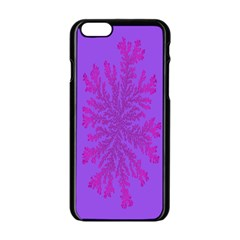 Dendron Diffusion Aggregation Flower Floral Leaf Red Purple Apple Iphone 6/6s Black Enamel Case by Mariart