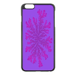 Dendron Diffusion Aggregation Flower Floral Leaf Red Purple Apple Iphone 6 Plus/6s Plus Black Enamel Case by Mariart