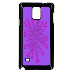 Dendron Diffusion Aggregation Flower Floral Leaf Red Purple Samsung Galaxy Note 4 Case (black) by Mariart