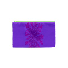 Dendron Diffusion Aggregation Flower Floral Leaf Red Purple Cosmetic Bag (xs) by Mariart