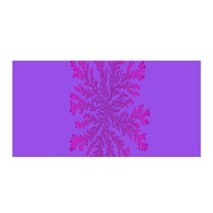 Dendron Diffusion Aggregation Flower Floral Leaf Red Purple Satin Wrap by Mariart