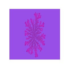 Dendron Diffusion Aggregation Flower Floral Leaf Red Purple Small Satin Scarf (square) by Mariart