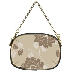 Flower Floral Grey Rose Leaf Chain Purses (one Side)  by Mariart