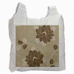 Flower Floral Grey Rose Leaf Recycle Bag (two Side)  by Mariart