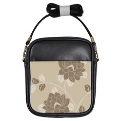 Flower Floral Grey Rose Leaf Girls Sling Bags by Mariart