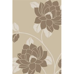 Flower Floral Grey Rose Leaf 5 5  X 8 5  Notebooks by Mariart