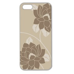 Flower Floral Grey Rose Leaf Apple Seamless Iphone 5 Case (clear) by Mariart
