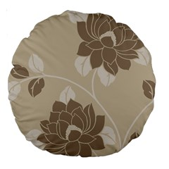Flower Floral Grey Rose Leaf Large 18  Premium Round Cushions by Mariart