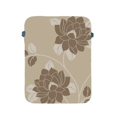 Flower Floral Grey Rose Leaf Apple Ipad 2/3/4 Protective Soft Cases by Mariart