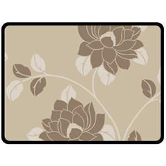 Flower Floral Grey Rose Leaf Double Sided Fleece Blanket (large)  by Mariart