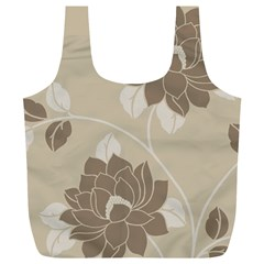 Flower Floral Grey Rose Leaf Full Print Recycle Bags (l)  by Mariart
