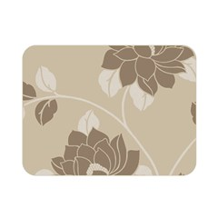 Flower Floral Grey Rose Leaf Double Sided Flano Blanket (mini)  by Mariart