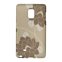 Flower Floral Grey Rose Leaf Galaxy Note Edge by Mariart