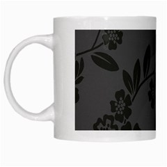 Flower Floral Rose Black White Mugs by Mariart