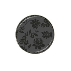 Flower Floral Rose Black Hat Clip Ball Marker by Mariart