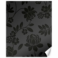 Flower Floral Rose Black Canvas 16  X 20   by Mariart