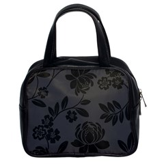 Flower Floral Rose Black Classic Handbags (2 Sides) by Mariart