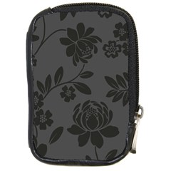 Flower Floral Rose Black Compact Camera Cases by Mariart