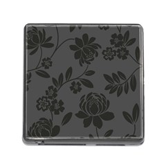 Flower Floral Rose Black Memory Card Reader (square) by Mariart