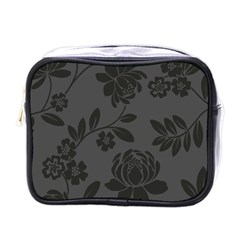 Flower Floral Rose Black Mini Toiletries Bags by Mariart