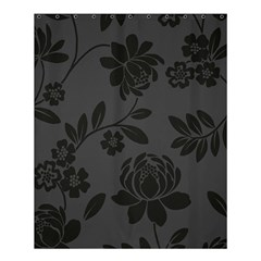 Flower Floral Rose Black Shower Curtain 60  X 72  (medium)  by Mariart