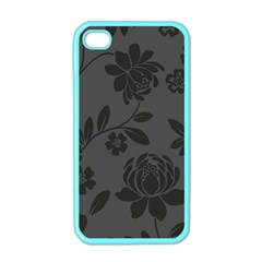 Flower Floral Rose Black Apple Iphone 4 Case (color) by Mariart