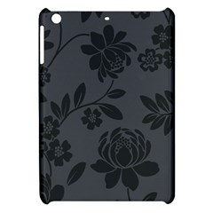 Flower Floral Rose Black Apple Ipad Mini Hardshell Case by Mariart