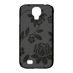 Flower Floral Rose Black Samsung Galaxy S4 Classic Hardshell Case (pc+silicone) by Mariart