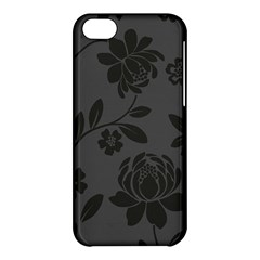 Flower Floral Rose Black Apple Iphone 5c Hardshell Case by Mariart