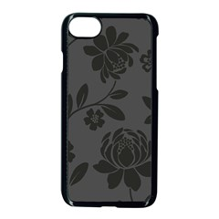 Flower Floral Rose Black Apple Iphone 7 Seamless Case (black) by Mariart