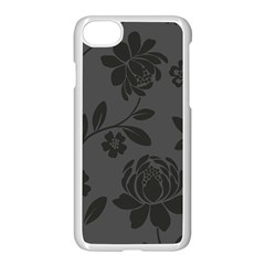 Flower Floral Rose Black Apple Iphone 7 Seamless Case (white) by Mariart