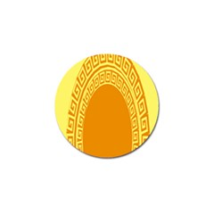 Greek Ornament Shapes Large Yellow Orange Golf Ball Marker (10 Pack) by Mariart