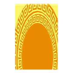Greek Ornament Shapes Large Yellow Orange Shower Curtain 48  X 72  (small)  by Mariart