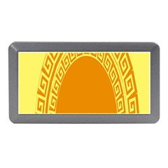 Greek Ornament Shapes Large Yellow Orange Memory Card Reader (mini) by Mariart
