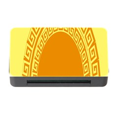 Greek Ornament Shapes Large Yellow Orange Memory Card Reader With Cf by Mariart