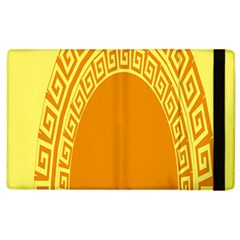 Greek Ornament Shapes Large Yellow Orange Apple Ipad 3/4 Flip Case by Mariart