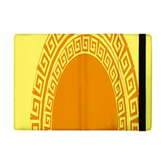 Greek Ornament Shapes Large Yellow Orange Apple Ipad Mini Flip Case by Mariart