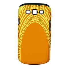 Greek Ornament Shapes Large Yellow Orange Samsung Galaxy S Iii Classic Hardshell Case (pc+silicone) by Mariart