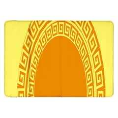 Greek Ornament Shapes Large Yellow Orange Samsung Galaxy Tab 8 9  P7300 Flip Case by Mariart
