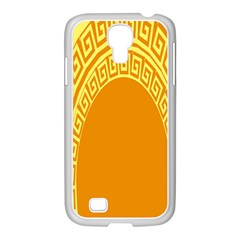 Greek Ornament Shapes Large Yellow Orange Samsung Galaxy S4 I9500/ I9505 Case (white) by Mariart