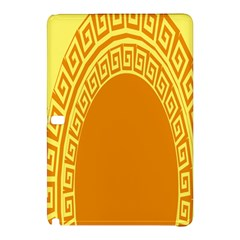 Greek Ornament Shapes Large Yellow Orange Samsung Galaxy Tab Pro 12 2 Hardshell Case by Mariart