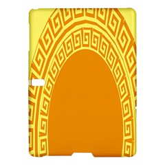 Greek Ornament Shapes Large Yellow Orange Samsung Galaxy Tab S (10 5 ) Hardshell Case  by Mariart