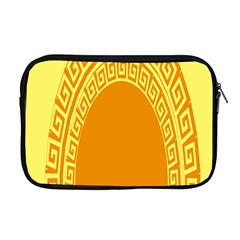 Greek Ornament Shapes Large Yellow Orange Apple Macbook Pro 17  Zipper Case by Mariart