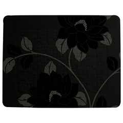 Flower Floral Rose Black Lola Flock Jigsaw Puzzle Photo Stand (rectangular) by Mariart
