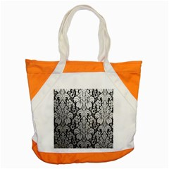 Flower Floral Grey Black Leaf Accent Tote Bag by Mariart